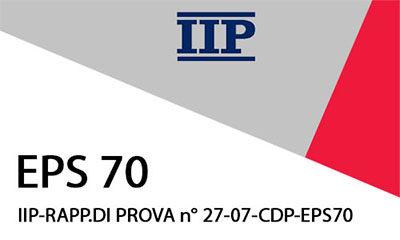 IIP-RAPP.DI PROVA n° 27-07-CDP -EPS 70